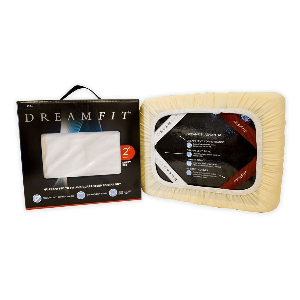 DreamFit Sheet Set - White Detail