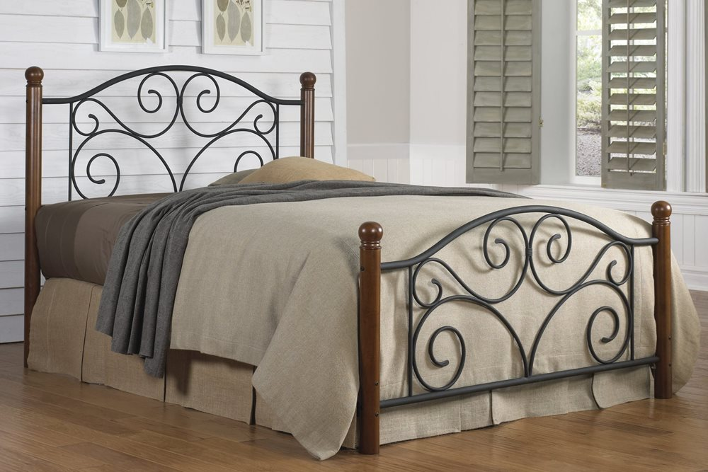 Doral Bed - Complete Bed Shown for Reference, Actual Product is Headboard Only
