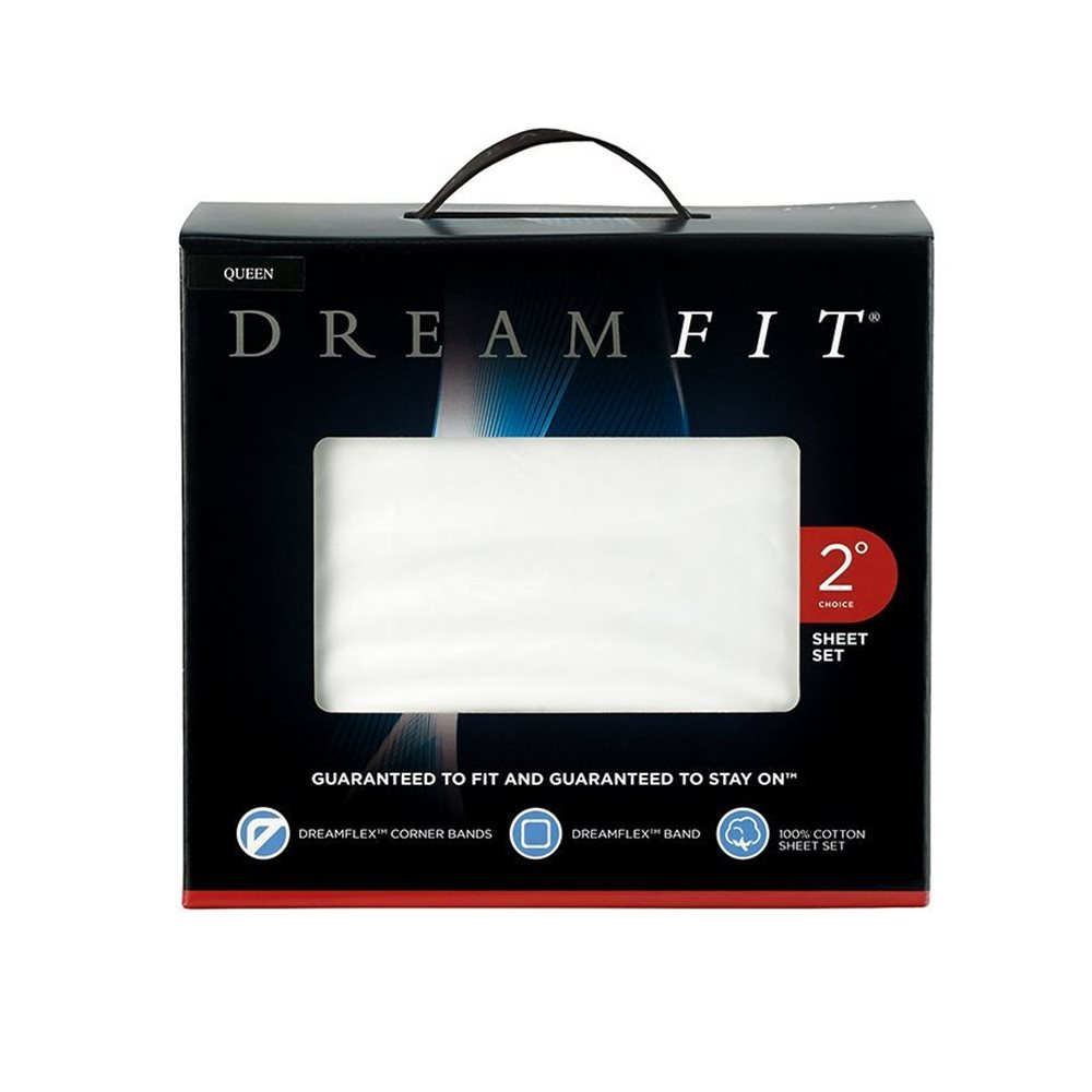 DreamFit Sheet Set - White
